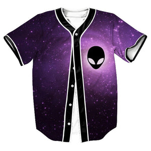Alien Galaxy Baseball Jersey