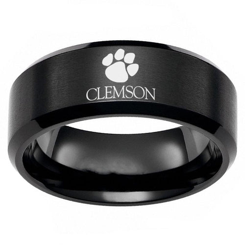 Clemson University Tigers Titanium Steel Ring