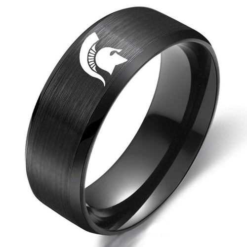 Michigan State Spartan Titanium Ring