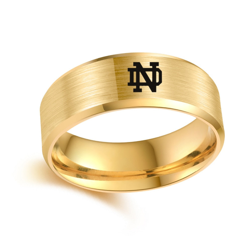 University of Notre Dame Titanium Steel Ring