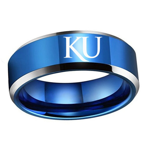 University of Kansas KU Titanium Ring