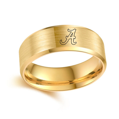 Alabama Crimson Tide Titanium Ring