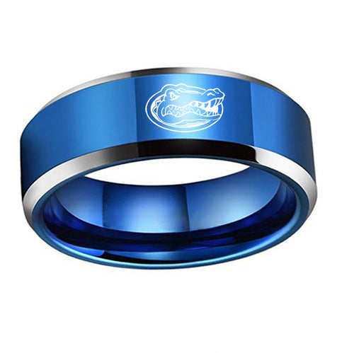 Florida Gator Titanium Steel Ring