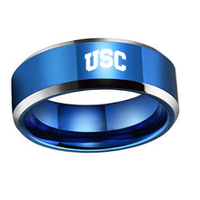 University of Southern California Trojans Titanium Steel Ring