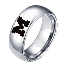 Michigan Wolverines Titanium Steel Ring