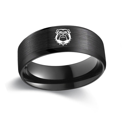 University of Georgia Bulldog Titanium Ring