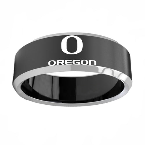 Oregon Ducks Titanium Steel Ring