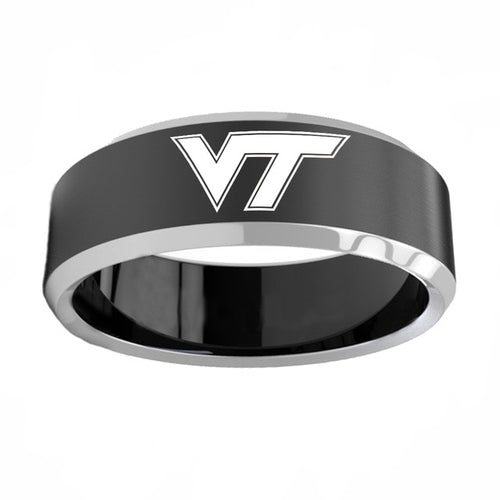 Virginia Tech Hokies Titanium Steel Ring