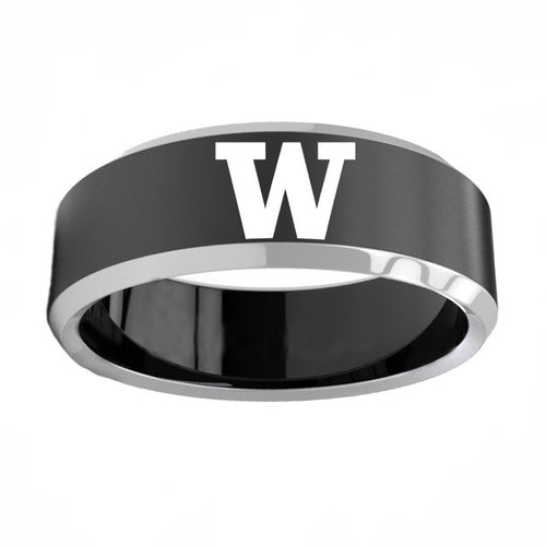 Washington Huskies Titanium Steel Rings
