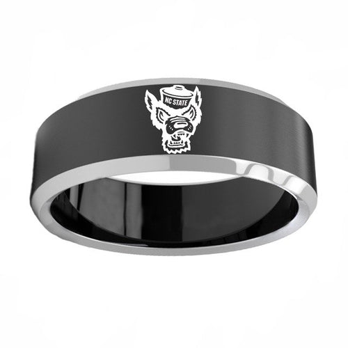 North Carolina State University Wolfpack Titanium Steel Ring