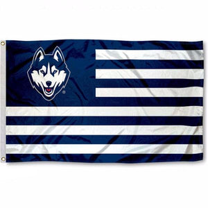 University of Connecticut Stripes Flag