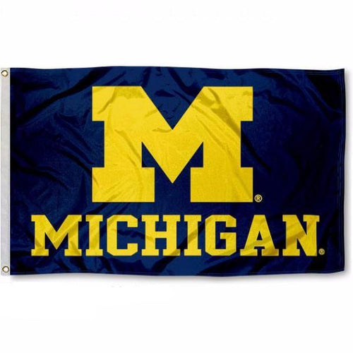 University of Michigan Wolverines flag