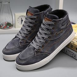Men High-Top Canvas Sneakers
