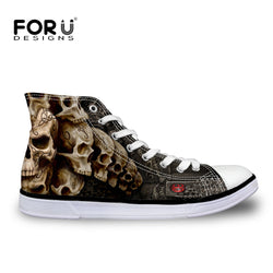 Forudesigns | Skull Men Canvas Classic Sneakers