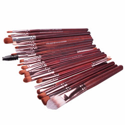 20Pcs Professional Facial Makeup Brush Set Eye Shadow, Foundation, Eyeliner & Lip Cosmetic Brushes