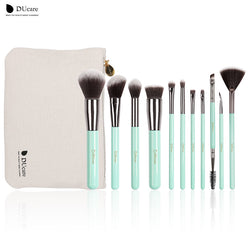 Ducare Hot Sell 11 Pcs Makeup Brush Set Tools Make-Up Toiletry Kit Wool Brand Make Up Brush Set Cosmetic Brush Bag