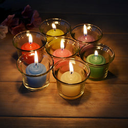 12Pcs 7-Color Decorative Candles Romantic Aromatherapy Smokeless Oil Candle For Birthday / Wedding Decoration Party Supplies
