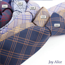 Fashion Design Brand Cotton Ties For Men Wedding Striped