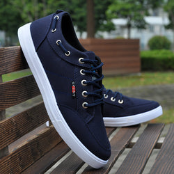 Syigw | Men Casual Slip-Resistant Breathable Canvas Shoes