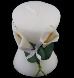 10Pcs Pure White Calla Lily Elegant Vase Shaped Candle Beautiful Romantic Wedding Bridal Shower Party Favor Decor Oranments Good