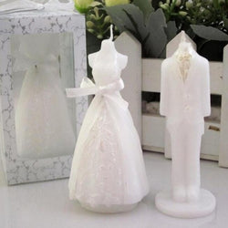 1Pc Romantic Creative Wedding Celebration Bride Bridegroom Shaped Fragrance Candle Bougie Party Boxed Gift 4.6*4.6*8Cm Supplies