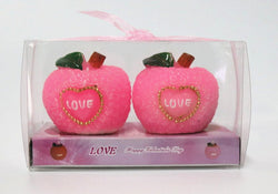 2Pcs\Box Apple Candle Red Fruit Craft Art Candle 5 Hours Continuous Combustion One Pcs Party Festival Christmas Eve Candle