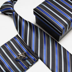 4Pcs/Set Towel Cuff Links Silk Ties
