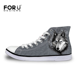 Forudesigns | Fashion Men Casual 3D Animals Wolf High Top