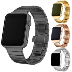 Dalan Dalan Series 2 1 316L Watchband 38Mm Link Bracelet Strap For Apple Watch Band 42Mm Stainless Steel Butterfly Loop