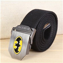 Batman Canvas Alloy Buckle Black Belt 120Cm