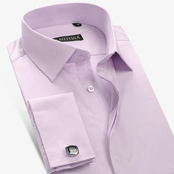 Men Cotton French Style Long Sleeve Dress Shirt