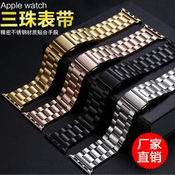 Dalan Luxury 38Mm Wrist Straps Stainless Steel For Apple Watch Band Link Bracelet 42Mm With Adapter Black Gold Silver