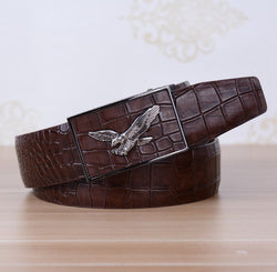 Men Belt With Leather Automatic Buckle