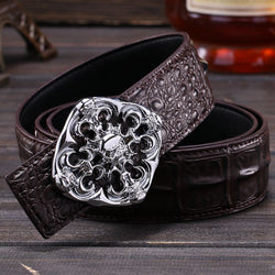 Brand New Crocodile High Quality Cowhide Genuine Leather Belt For Men Alligator Fashion Mens Belts Luxury Designer Strap
