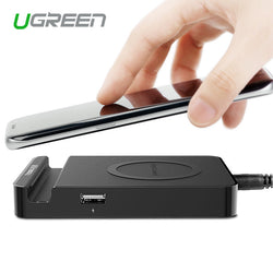 Ugreen Original Qi Wireless Charger Charging Pad With Dual Usb Charging Adapter For Samsung Galaxy S6/S6 Edge Nokia Lumia Htc