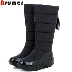 Warm Snow Platform Knee High Boots