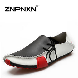 Znpnxn | Men Casual Genuine Leather Slip On Loafers