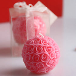 10Pcs Wedding Favors Party Valentine'S Gifts Bridal Shower Rose Ball Candle