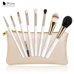 Ducare Brand Makeup Brushes 8Pcs Foundation Brush Blusher Powder Eyeshadow Blending Eyebrow Eyeliner Lip Brushes