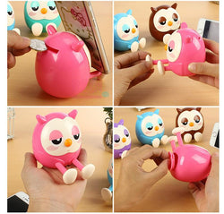 Multifunctional Universal Cute Owl Pattern Phone Stand Holder For Cell Phone Accessories With Mini Saving Money Box Function