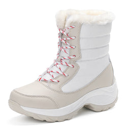 Waterproof Women Snow Boots Thick Bottom Platform