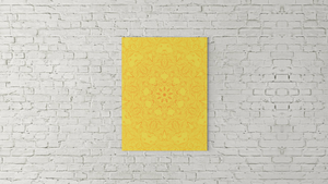Work in Peace - Orange on Yellow - Mandala 01