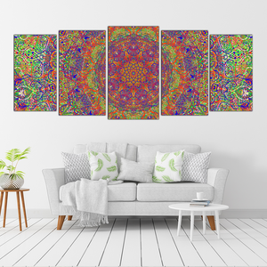 May Mandala - 5 Panel Canvas Art