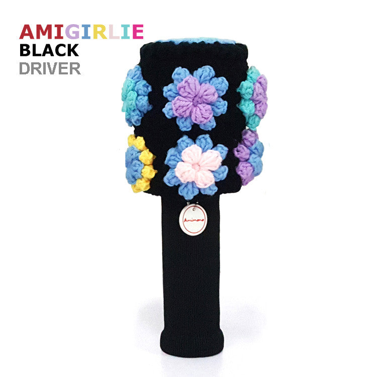 AMIGIRLIE BLACK Handmade Golf Headcovers