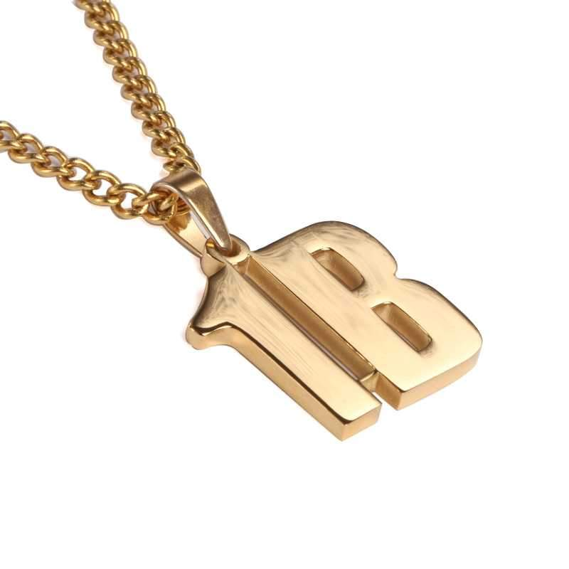 Golden Ball Player Position Pendant and Chain - Baseball Legend Apparel