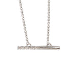 Stainless Bat Bar Necklace - Baseball Legend Apparel