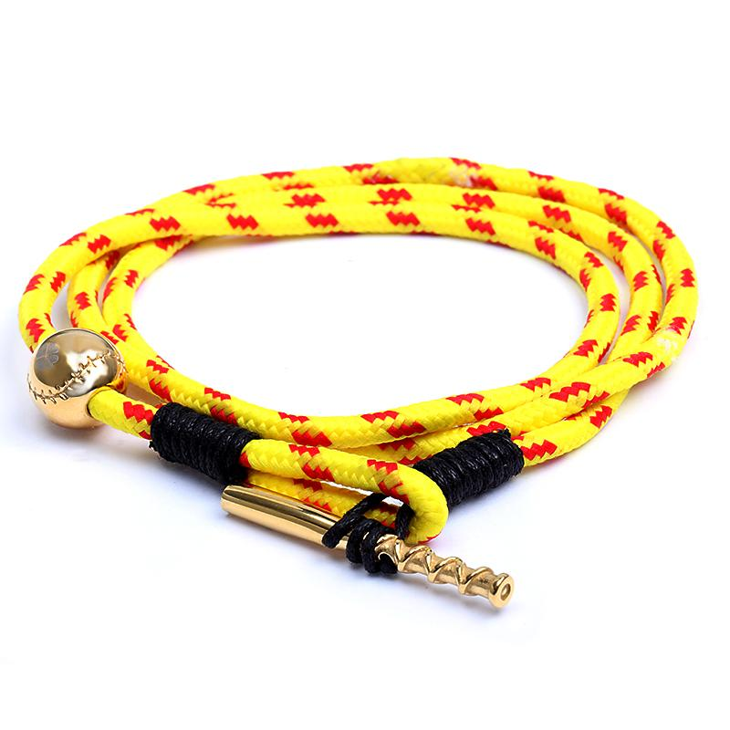 Golden Bat & Ball Rope Cording - Baseball Legend Apparel