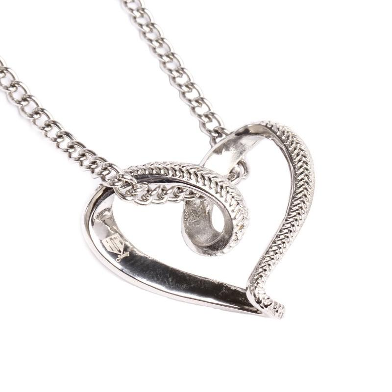 Stainless Baseball Stitched Infinity Heart Pendant and Chain - Baseball Legend Apparel