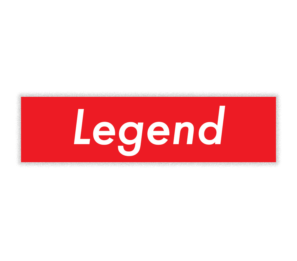 Legend Sticker - Baseball Legend Apparel