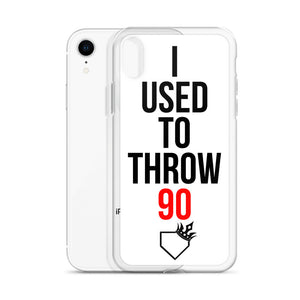 I Used To Throw 90 iPhone Case - Baseball Legend Apparel